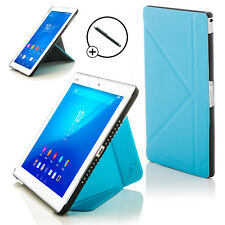 Leather Blue Origami Smart Case Cover for Sony Xperia Z4 10.1 SGP771 + Stylus