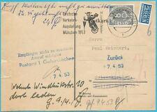 BRD Posthorn MiNr.127 Einzelfrankatur auf einer Behördensache vom 1.4.1953!
