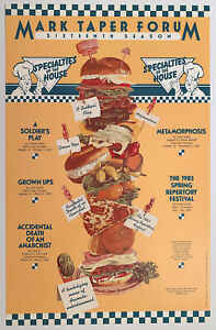 THE ULTIMATE DELI RESTAURANT POSTER, SOLD OUT 1982M PERFECT