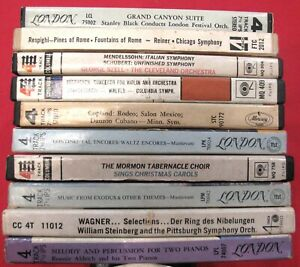 """LOT (10) 7"""" REEL TO REEL FACTORY TAPES + BOXES~ALL CLASSICAL EASY GREATS~LOT # 1"""