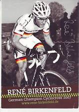 CYCLISME carte cycliste RENE BIRKENFELD german champion cyclo cross 2007 signée