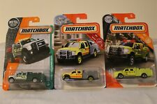 MATCHBOX #22, #47 AND #125 FORD F-550 SUPERDUTY FIRE ENGINE MINI PUMPER LOT OF 3