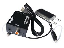 Analog L/R to Digital Coaxial Optical Toslink Audio Converter with Power Supply