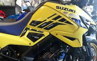 2 ADESIVI 3D PROTEZIONI LATERALI SERBATOIO MOTO compatibili SUZUKI V-STROM 1050