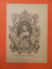 Augusta Deutsche Kaiserin und Königin von Preußen Preussen Holzstich 1894