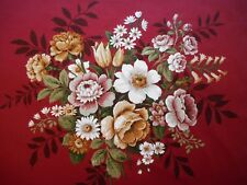 Lovely unused vintage cotton sateen floral Sanderson furnishing fabric 'Tresco'