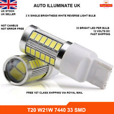 2x T20 7440 582 W21W Bright White 33 LED SMD Reverse Brake Light Bulbs 6000k 12V