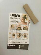 (1) ONE PONY-O Hair Tie Band Clip NEW!  *SANDY BEACH*     Free Shipping
