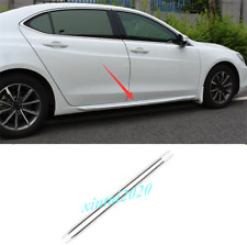 For Acura TLX 2015-2019 2PCS White Side Car Door Body Molding Streamer Trim