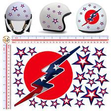 adesivi casco stelle flash sticker helmet stars U.S.A. tuning motocycle 25 pz.