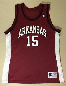 Vintage Arkansas Razorbacks #15 Basketball College-NCAA Champion Jersey Size44