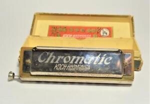 Vintage KOCH Chromatic 10 hole Harmonica Key of C w box