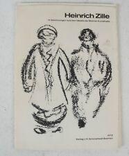Heinrich Zille 1972 Schmalfeld Bremen 15 Zeichnungen Reproduktion