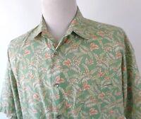 Tori Richard XL Camp Hawaiian Shirt Floral Tropical Multi Color Cotton Lawn USA