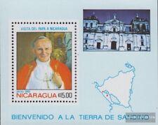 Nicaragua Bloc 148 (complète edition) neuf avec gomme originale 1983 pape jean P