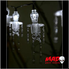 LED Skeleton Battery Fairy Lights x 10 Halloween Party Decoration SCARY