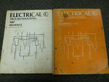 1986 Renault Alliance & GTA Electrical Wiring Diagram Troubleshooting Manual