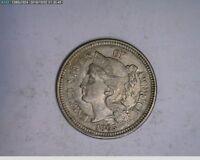 1865 3C Nickel Civil War Coin  ( 54s184 )
