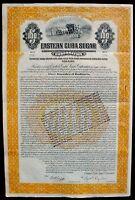 The Eastern Sugar 100 US$ Gold Bond 1922 unentwertet + Kupons