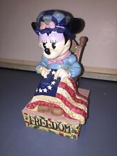 2005 Jim Shore Disneys Minnie's Stiching Freedoms Promise Figurine Collection