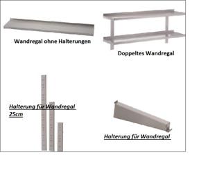 Gastro Wandboard Wandregal Einzel,Doppel Edelstahl Halterungen für Regale
