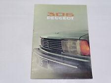Documentación automóvil - Folleto Peugeot 305 GR
