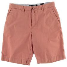 NEW Mens Tommy Hilfiger Sconset Red Twill Classic Fit Khaki Chino Shorts Sz 34