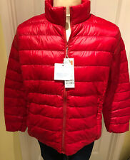 Womens Quilted Padded Puffer Bubble Ultralight Down Jacket/Coat RED *BRAND NEW*