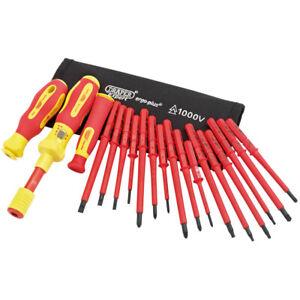 Draper Ergo Plus Interchangeable VDE Torque Screwdriver Set (19 Piece) No.81762