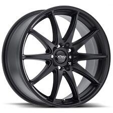 4 BRAND NEW KATANA Wheels KR30 17x7 5x120 5x114.3 +40  MATTE BLACK