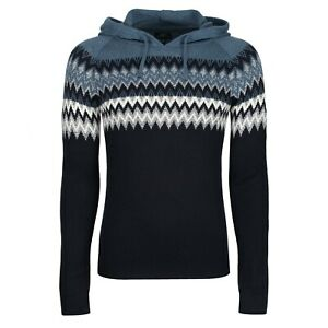 NEXT™ Mens Hooded Jumper With Wool New Knitted Long Sleeve Drawstring Hoodie Top