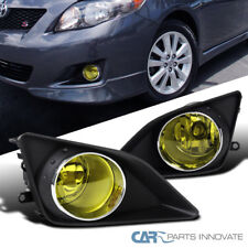 For 09-10 Toyota Corolla Replacement Yellow Fog Lights Front Bumper Lamps+Switch
