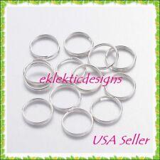10mm 25pcs Silver Plated Split Dbl Jump Rings Jewelry Findings Earrings Necklace