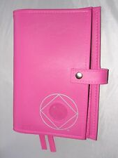 Narcotics Anonymous NA Basic Text 6TH How an Why PINK  Deluxe Double Book Cover