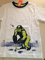 NWT Gymboree Monstro-Politan Scooter Gorilla Shirt Boys White Size 7