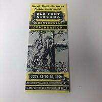 Vintage Old Fort Niagara Bicentennial Celebration Brochure Youngstown NY 1959