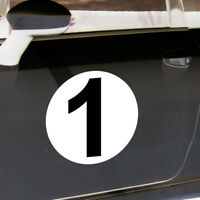 2 Aufkleber 20cm Start Nummer 1 Ziffer Zahl Sticker Kart Auto Racing Motorsport