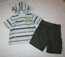 Boys Baby Calvin Klein shorts hoodie shirt 18M 2 piece outfit hoody 18 months