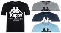 Kappa Mens Estessi Black Gray Blue Red Mens short sleeve T-Shirt Size S M L XL