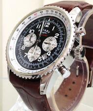 Rotary.Chronospeed .Chronograph quartz - brown Leather Strap Watch.. NEW