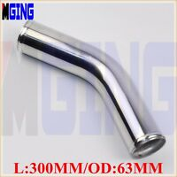 "63mm 2.5"" inch 45 Degree Aluminum Turbo Intercooler Pipe Piping Tubing L=300MM"