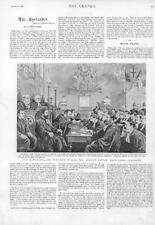 1894 - Antique Print CANADA Newfoundland Election Trials Justice Little  (212)