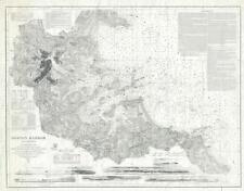 1920s U. S. Coast Survey Nautical Chart or Maritime Map of Boston Harbor