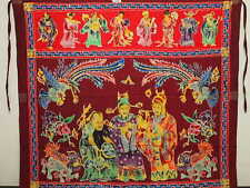 Very Rare Antique Peranakan Chinese Java Batik Tokwi Altar Table Prayer Cloth