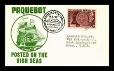 US POSTAL CARD PAQUEBOT POSTED ON HIGH SEAS SWEDISH AMERICAN LINES