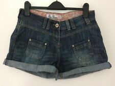 MATALAN Be Beau Faded Blue Denim Hot Pants Summer Shorts Size 10