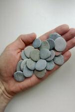 20 flat pebbles stones 20-30mm for painting, crafts, aquarium, mosaic