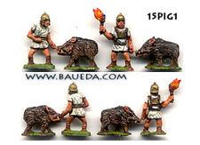 Baueda - Incendiary pigs (2 figures+2 pigs) - 15mm