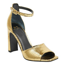 feaae7dff34d Marc Fisher Harlin Gold Leather Dress Ankle Strap Sandals HEELS 11 M