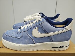 Nike Air Force 1 '07 LV8 NCAA Dusty Blue Suede - Blue Void/Sail - Size 10